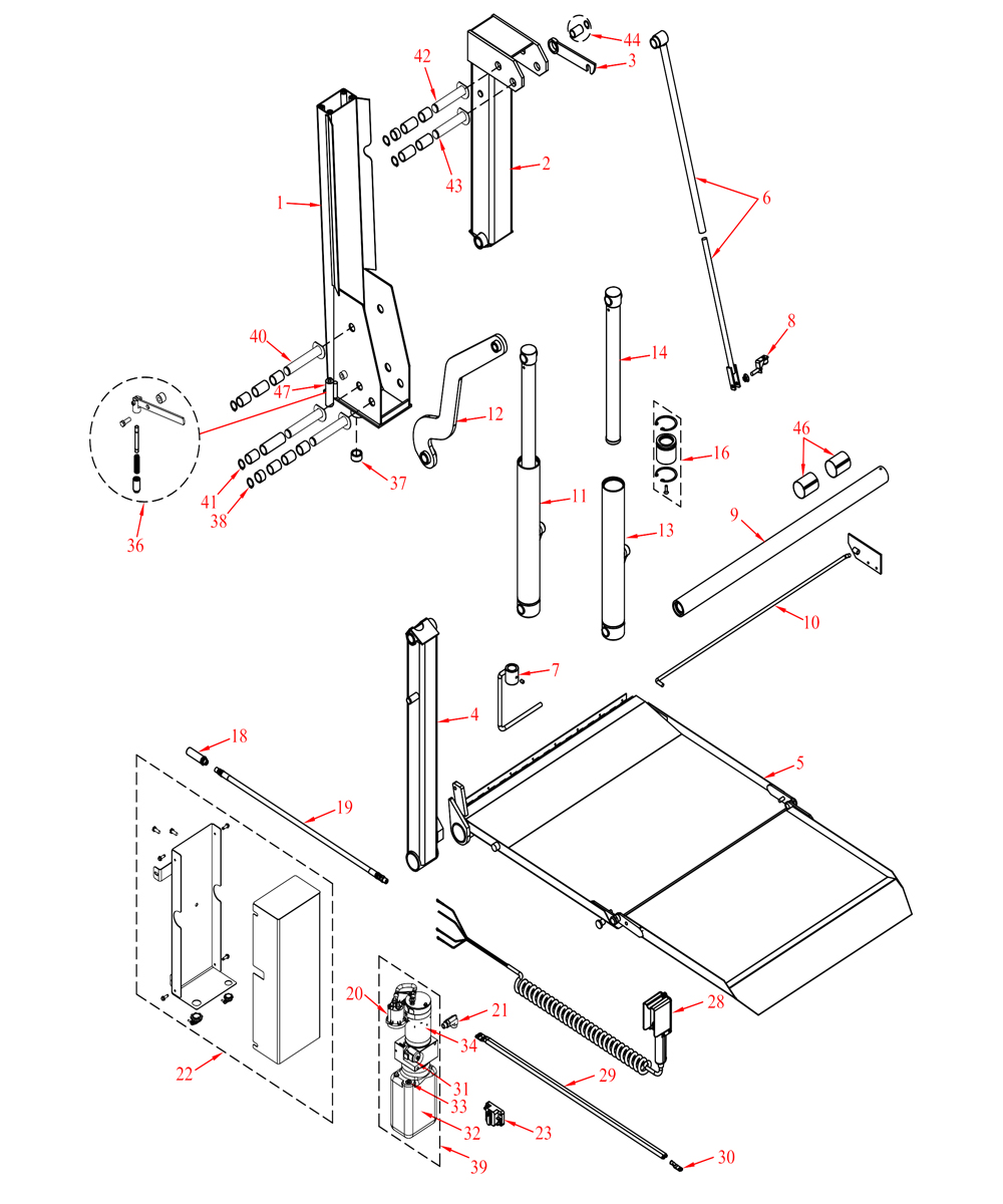 maxon wiring diagram  maxon liftgate switch and coil cord for tuck under  maxon columnlift bmr a